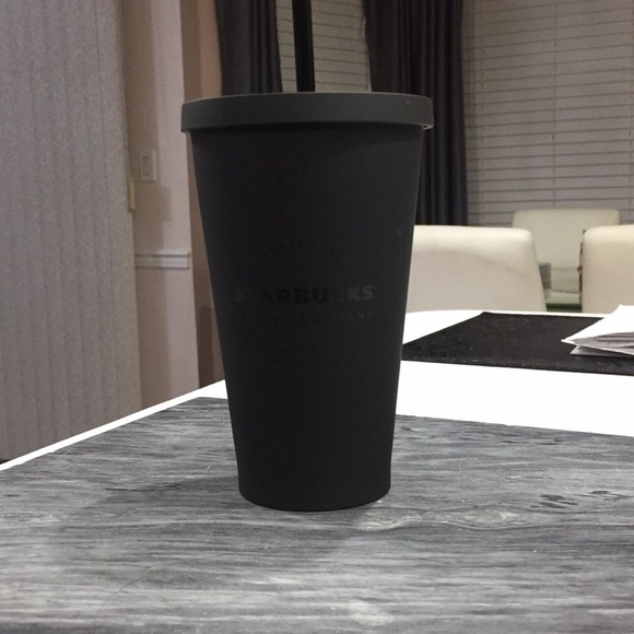 Limited Edition Matte Black Starbucks Grande Cup Nwt